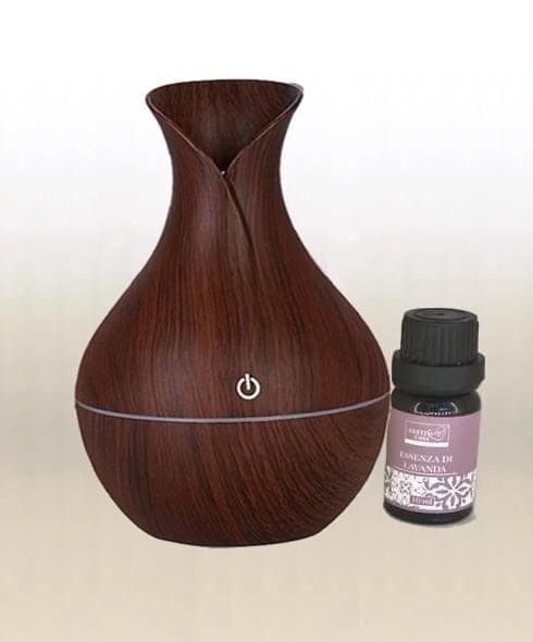 humidifier vase dark brown